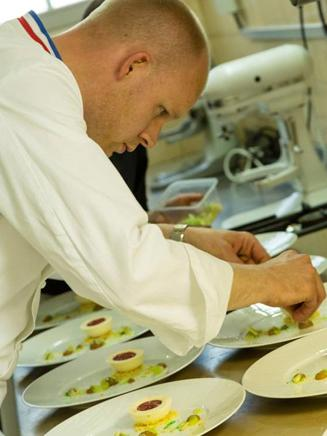 French cuisine by Michelin-starred chef Pierre Caillet