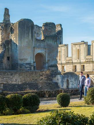 Thirteenth century ruins of Château de Fère