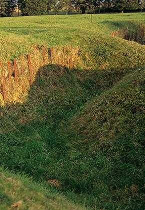 Preserved trenches in Beaumont Hamel