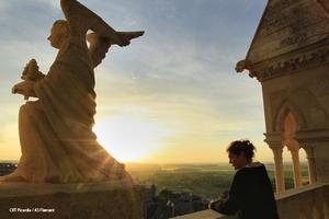Les tours de la cathédrale de Laon dans l'Aisne en Picardie