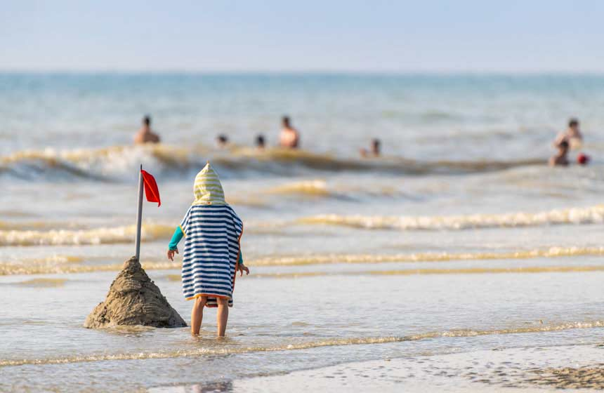 Family fun on the beach at Quend Plage