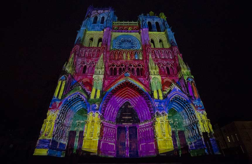 Amiens' magical light show at the cathedral