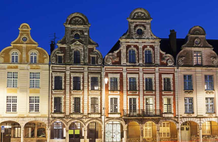 Arras in Northern France, famous for the Flemish architecture of its stunning squares