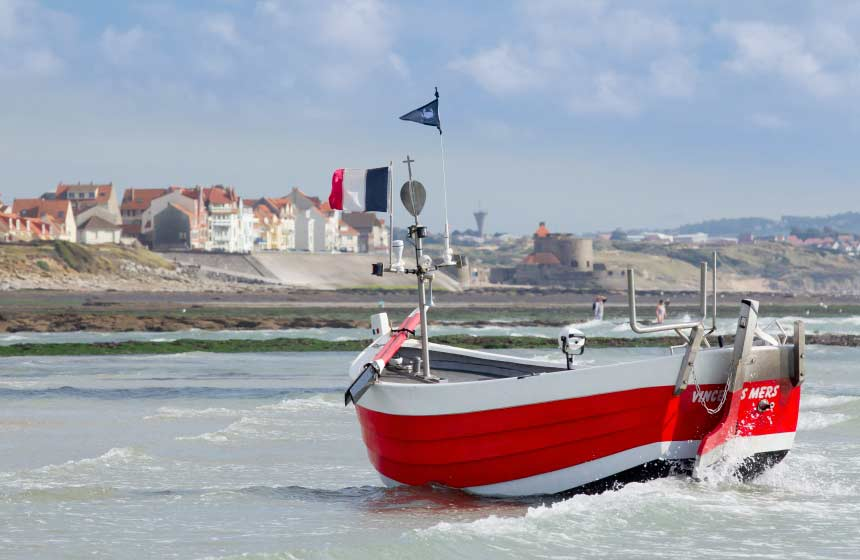 The pretty fishing village of Audresselles is just along the coast from your hotel in Wimereux