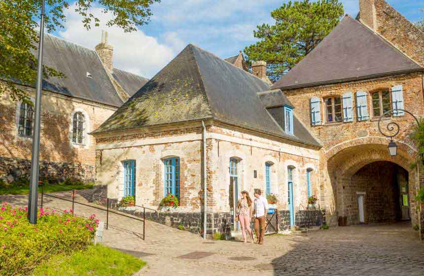 Enjoy a romantic stroll on the cobbled streets of charming Montreuil sur Mer