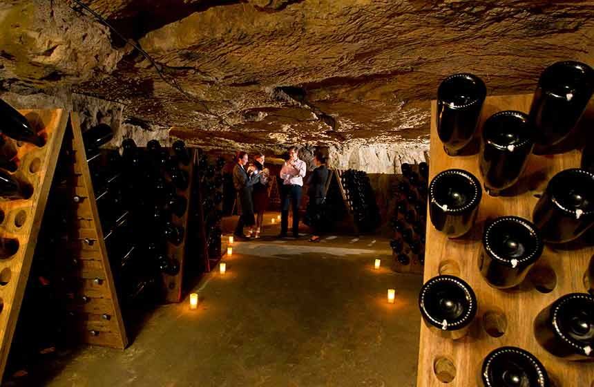 Visit the Pannier champagne cellars in Northern France