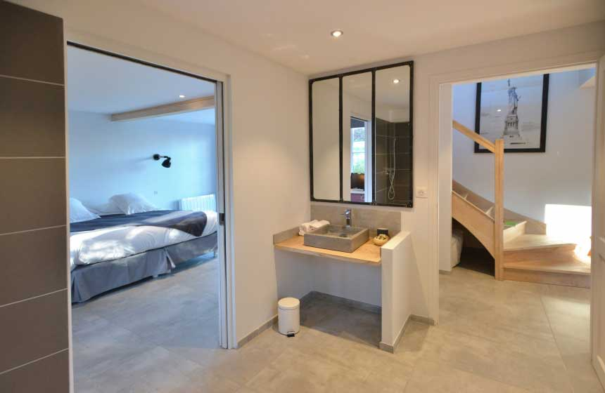 Bathroom of a villa at the Hameau de Diane, Quend-Plage