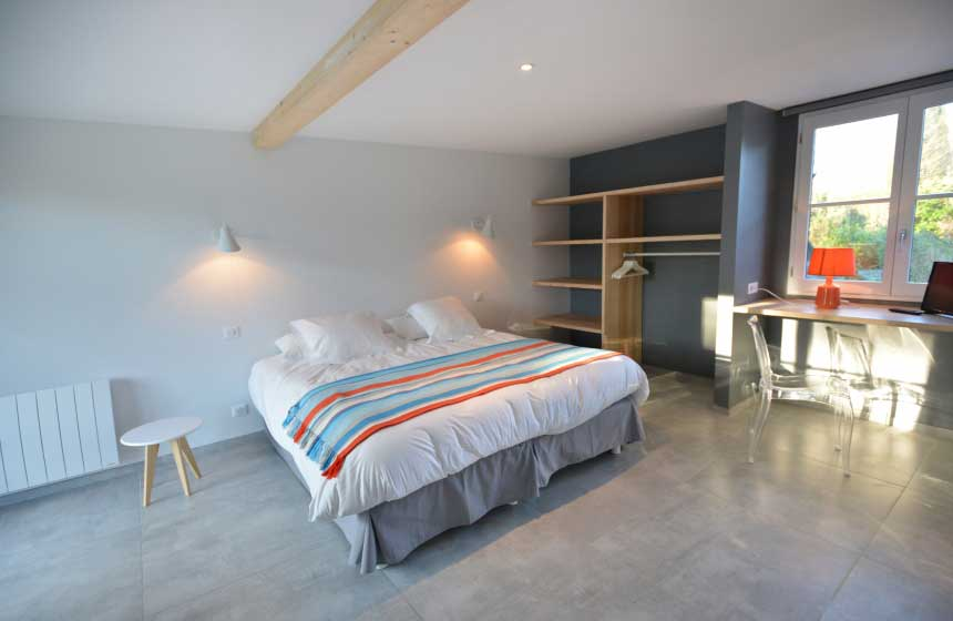 Double bedroom of a villa at the Hameau de Diane in Quend-Plage