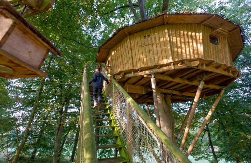 Wrapped in nature at Château des Tilleuls, your family treehouse holiday in France