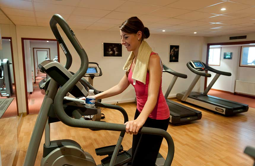 Enjoy the wellbeing facilities including a gym at Château de Montvillargenne hotel near Chantilly