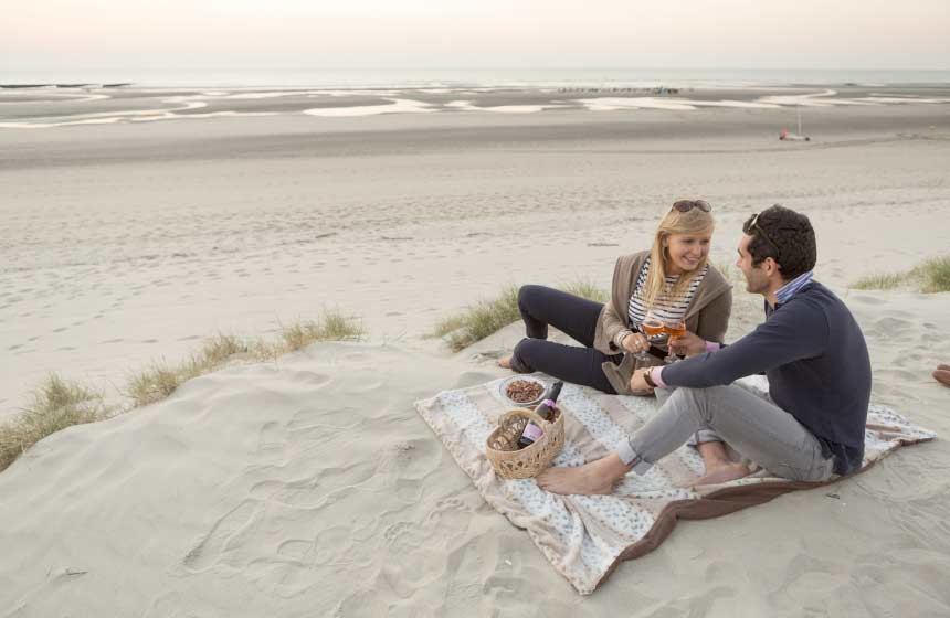 Memorable moments in Northern France - a romantic sunset over Hardelot beach