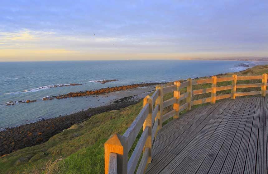 Sunset at 'Site des Deux Caps' (Cap Blanc Nez cliffs and Cap Gris Nez cliffs)