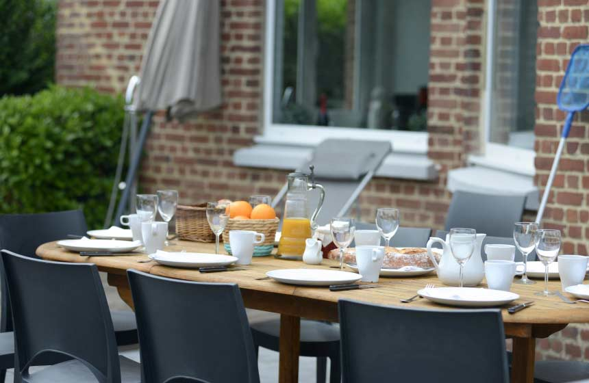 Alfresco dining with family and friends is one of the great pleasures of a French gite holiday