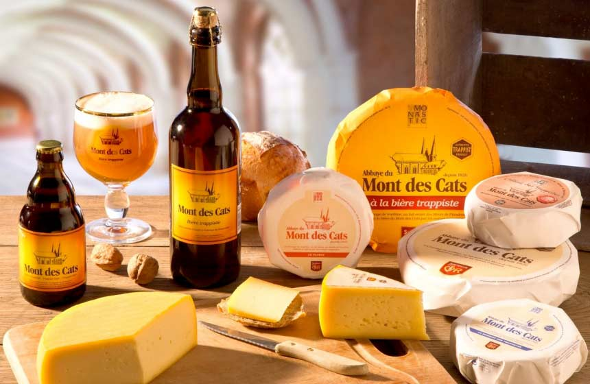 Cheeses made on site at the Abbaye du Mont des Cats (there's a shop!)