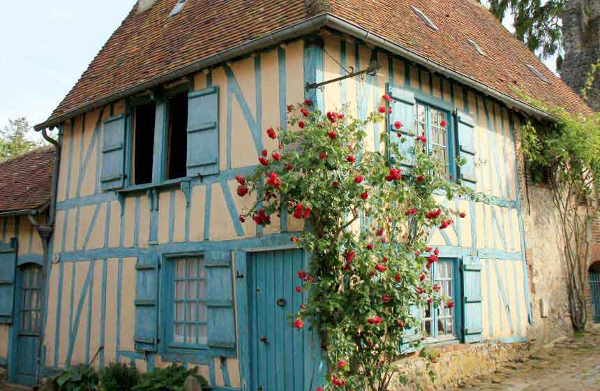 Characterful Gerberoy, officially named one of France's most beautiful villages