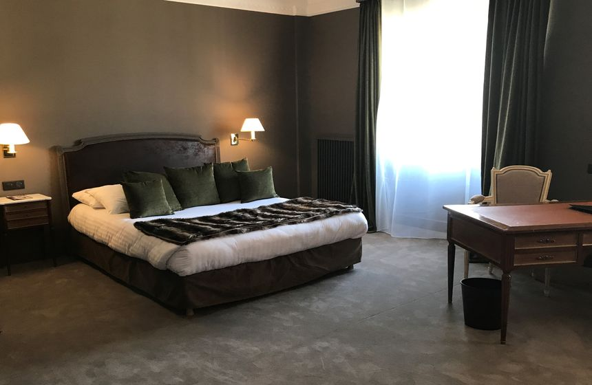 A junior suite at the Carlton Hotel in Lille - perfect accommodation for a family weekend break in Northern France