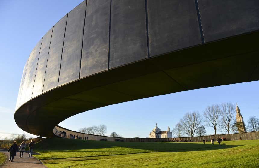 The remarkable and moving WW1 Remembrance Ring is a 20-minute drive away