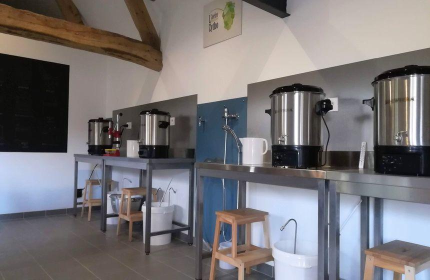 La P'tite Zytho beer-making workshop at Monts et Merveilles B&B