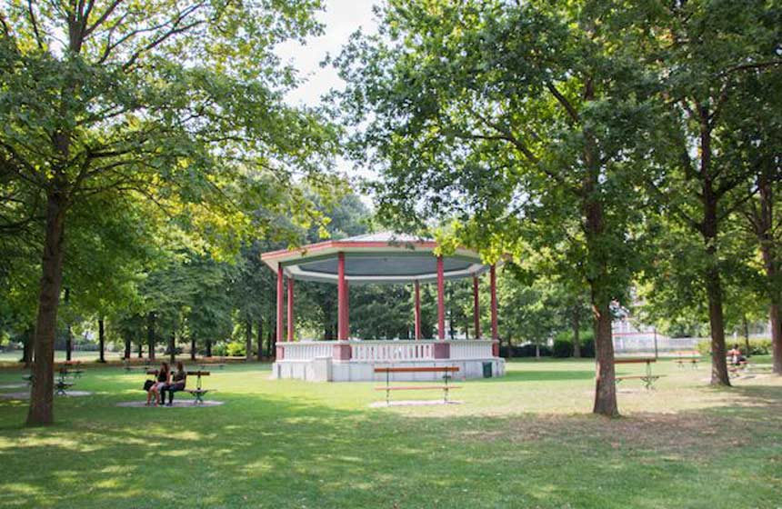 The peaceful 'Jardin du Gouverneur' park in Arras, Northern France