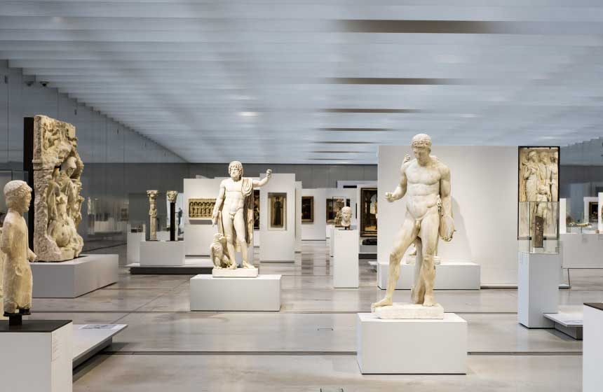 The Louvre-Lens museum is a 15-minute drive away