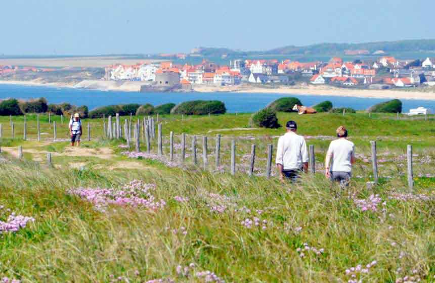 'Pointe aux Oies' is an unspoilt coastal beauty spot that's perfect for a walk on your romantic weekend break