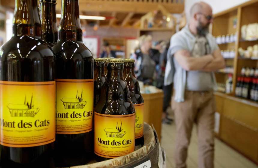 The shop at the Abbaye du Mont des Cats