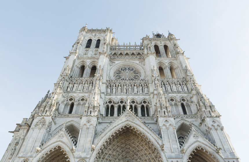 The gothic cathedral of Amiens
