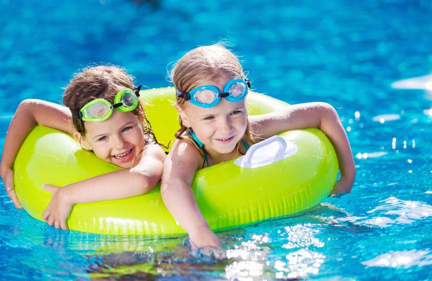 Enjoy full use of the campsite facilities including the outdoor pool on your treehouse holiday in France