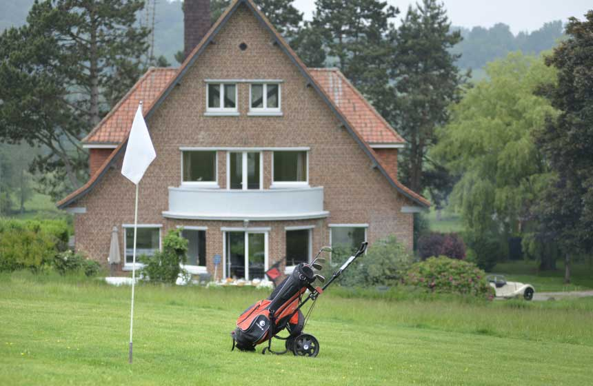 Villa des Groseilliers self-catering gite has a 5-hole golf course in the garden for guests' private use