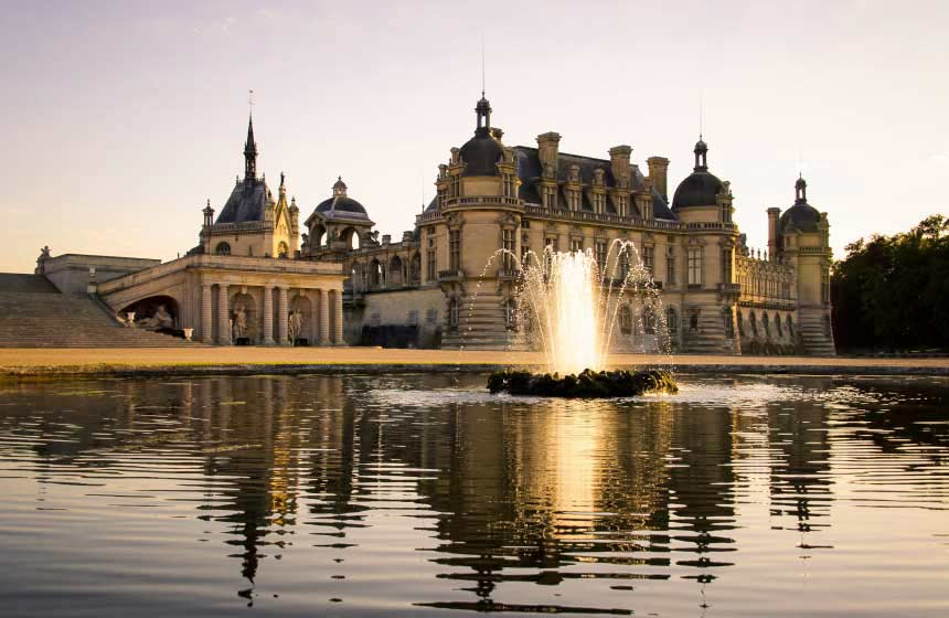 Château de Chantilly – just a short walk from the hotel - is undisputedly one of Northern France's most iconic sights