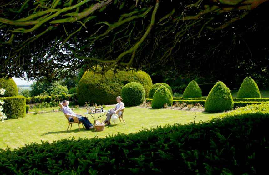 The stunning setting of 'Jardin des Ifs' gardens in Gerberoy