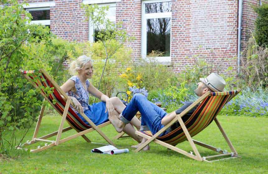 The garden at the Monts et Merveilles B&B