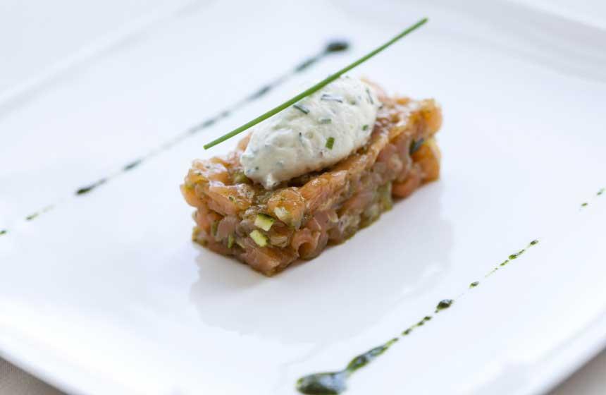 Fine dining at Ferme du Vert's restaurant