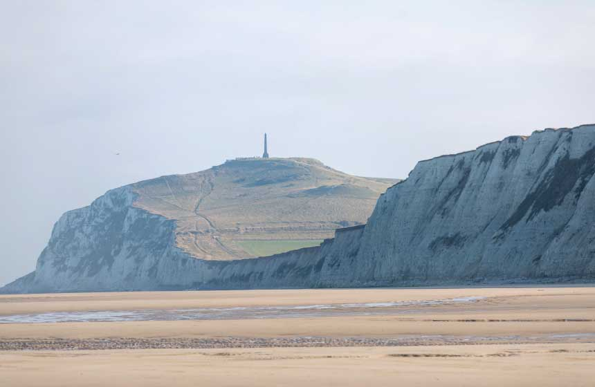 The area is known for the iconic cliffs at Cap-Blanc-Nez and Cap-Gris-Nez, collectively known as 'Site des Deux Caps'