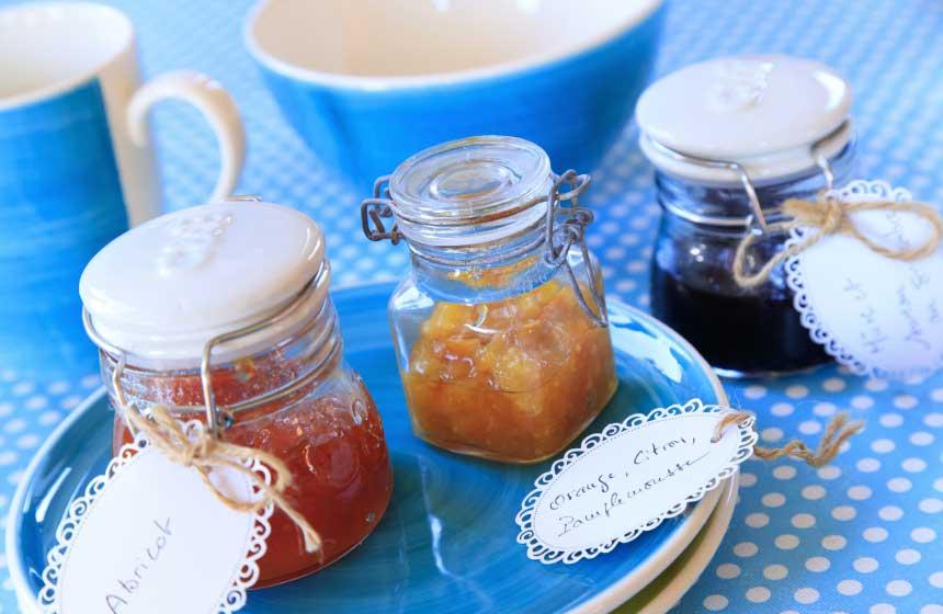 Original jams, home-made by your host