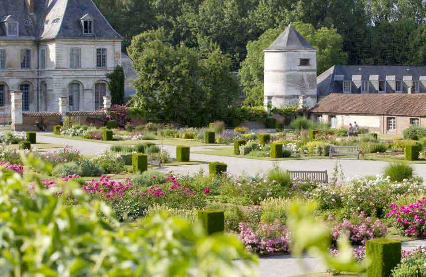 Abbaye-de-Valloires abbey gardens in Argoules, Northern France
