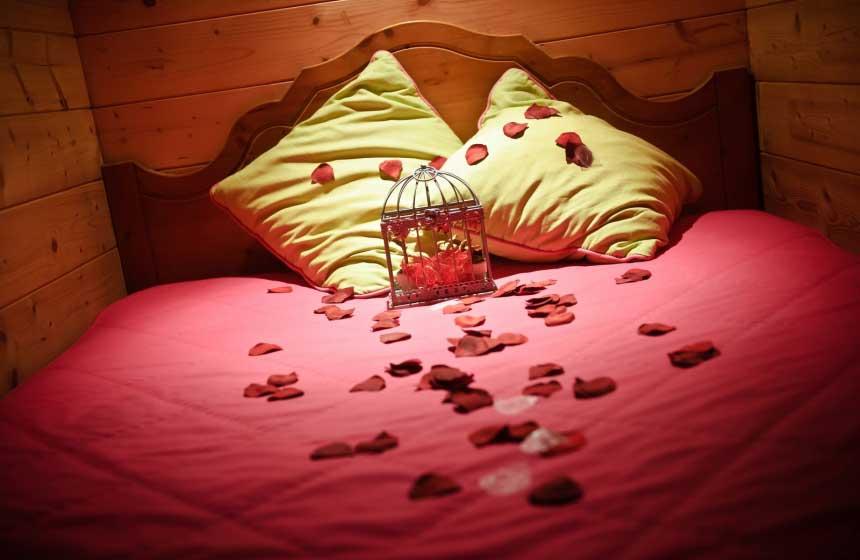 The snug sleeping corner on your gypsy caravan holiday for a great night's sleep