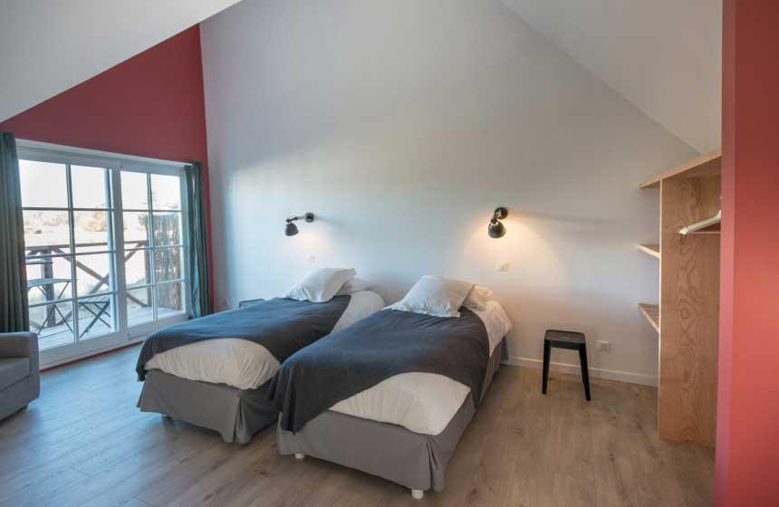 Double bedroom of a villa at the Hameau de Diane, Quend-Plage