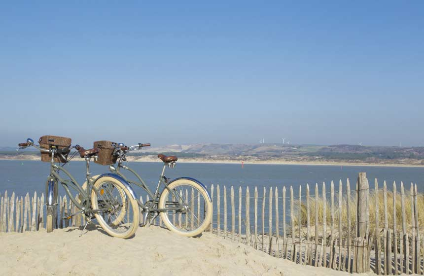 Hiring a bike and getting on the cycle paths is one of the best ways to explore Le Touquet's coastline and forest