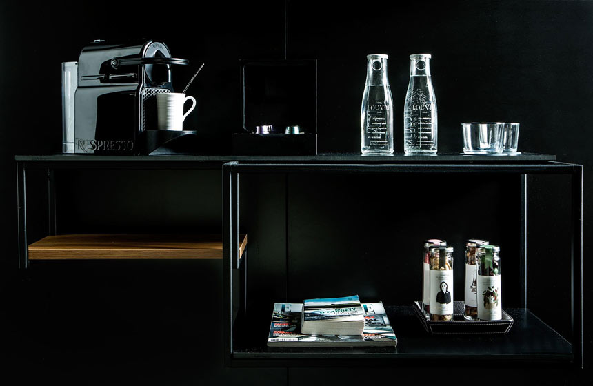 Nespresso coffee machine plus complimentary teas, mineral water and sweets in your room