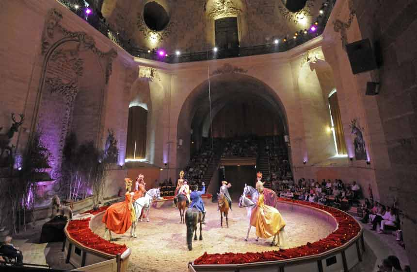 Featuring real horses beneath the stables' majestic dome, the fairytale shows at Chantilly's 'museum of the horse' are magical extravaganzas!
