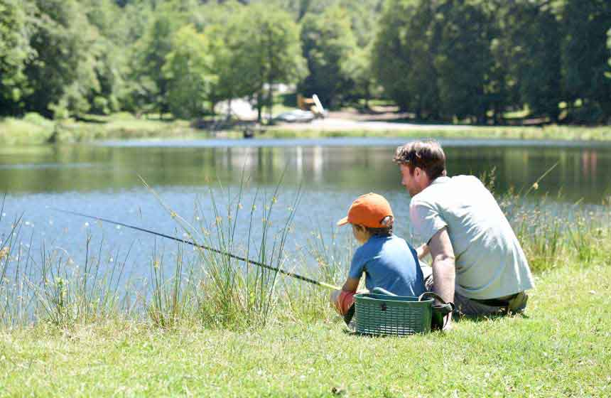 Why not all have a go at fishing during your family weekend break at Camping Ferme des Aulnes?
