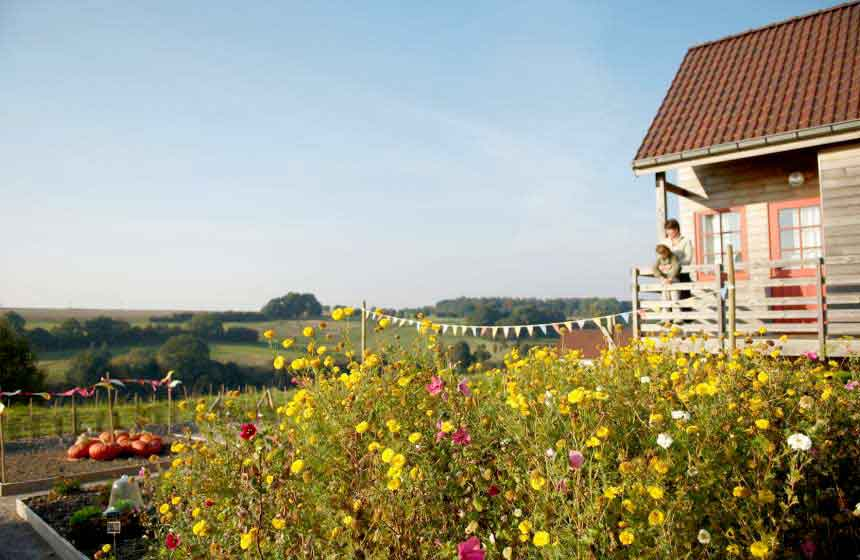Unlimited view from your country cottage at the Domaine du Val eco-friendly resort, northern France