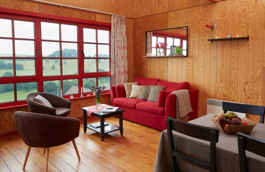 Chalet style gite at the eco-friendly resort Domaine du Val, northern France