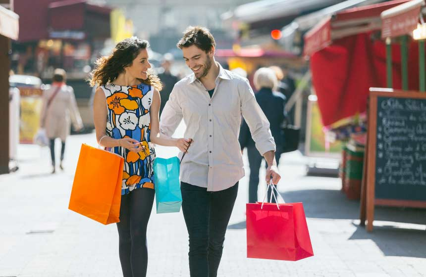 A spot of shopping is a romantic way to spend the afternoon in Northern France's stunning Arras