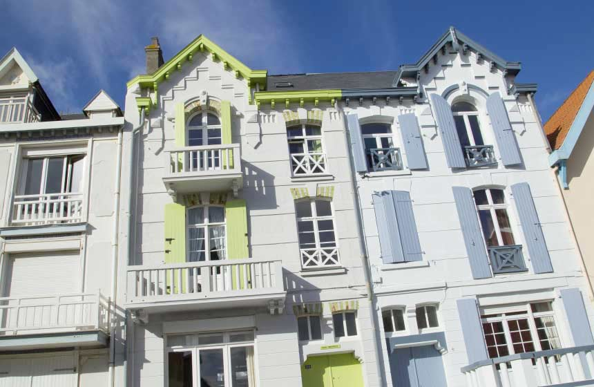 The colourful shutters of Wimereux's classic coastal architecture