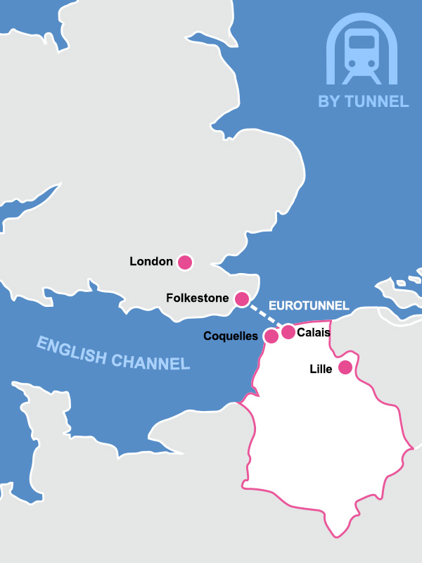 Map Of Uk France.Northern France Map By Tunnel Jpg French Weekend Breaks