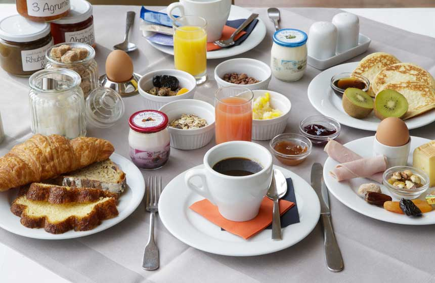 Kick start your day with the fullest of breakfasts at Hotel Le Cap Hornu, Northern France