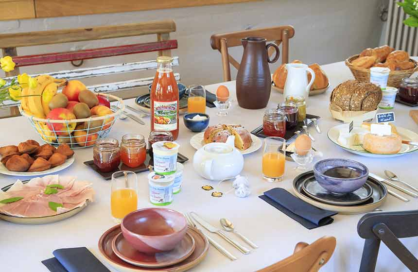 Plenty of locally-sourced and homemade goodies at breakfast time