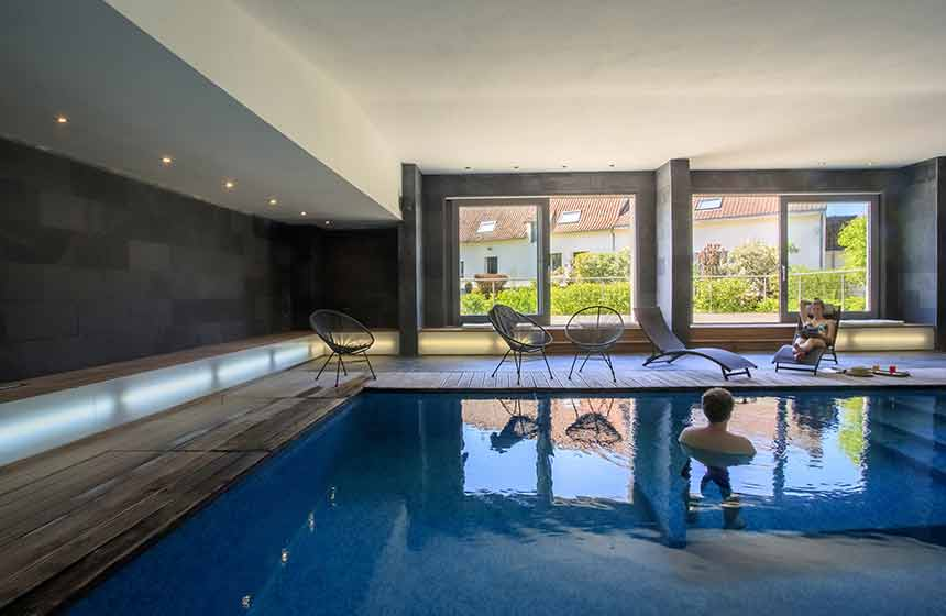 The jewel in its crown is a beautiful indoor pool with jacuzzi
